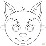 Squirrel Mask Coloring Page | Free Printable Coloring Pages   Free Printable Chipmunk Mask