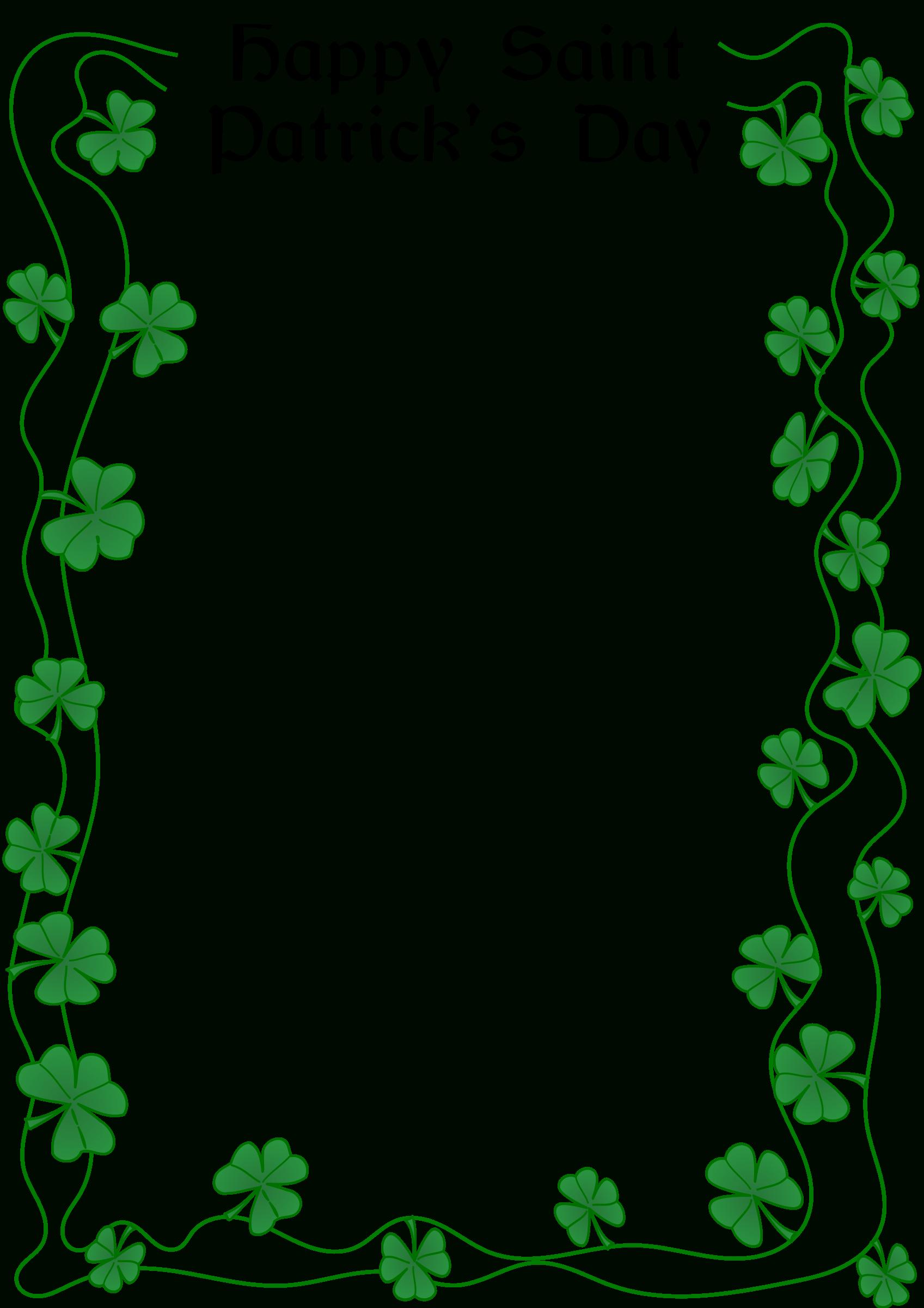 St Patrick's Day Border@arvin61R58, St. Patrick's Day Border, On - Free Printable St Patricks Day Stationery