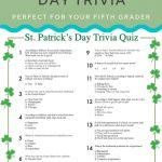 St. Patrick's Day Trivia | St. Patrick's Day | St Patrick's Day   Kwanzaa Trivia Free Printable