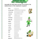 St. Patrick's Day Word Scramble Worksheet   Free Esl Printable   Free Printable Word Scramble Worksheets