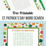 St. Patrick's Day Word Search | Laura's Crafty Life | Free Printable   Free Printable March Activities
