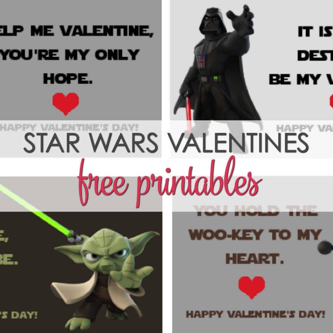 Star Wars Valentines Printables - 4 Free Designs | It Is A Keeper - Free Printable Lego Star Wars Valentines