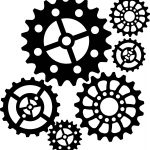Steampunk Gear Stencil   Google Search | Sketching | Steampunk Gears   Free Printable Gears