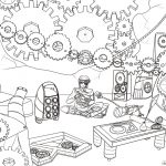 Steampunk Gears Coloring Page | Free Printable Coloring Pages   Free Printable Gears