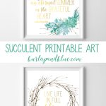 Succulent Arrangements {Free Printable Succulent Wall Art} | Burlap+   Free Printable Art