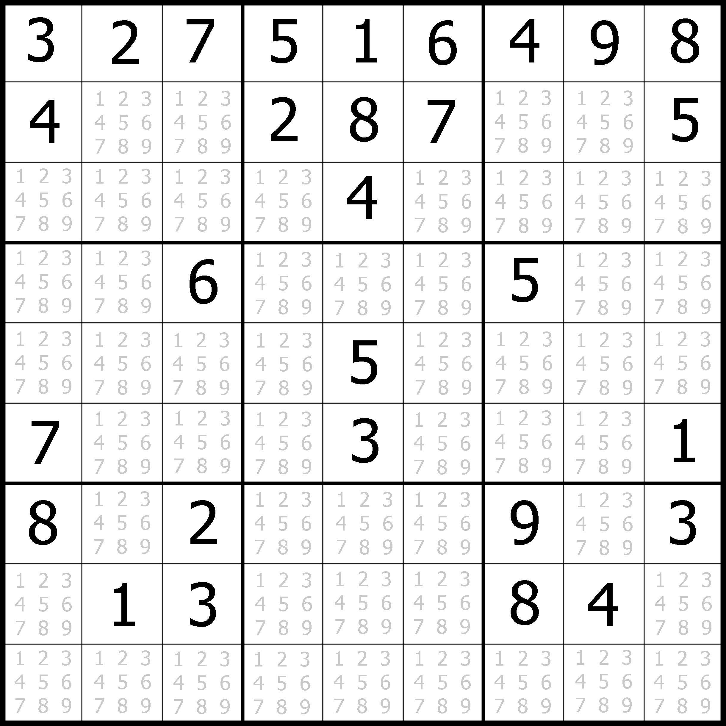 Sudoku Printable   Free, Medium, Printable Sudoku Puzzle #1   My - Free Printable Sudoku Pdf