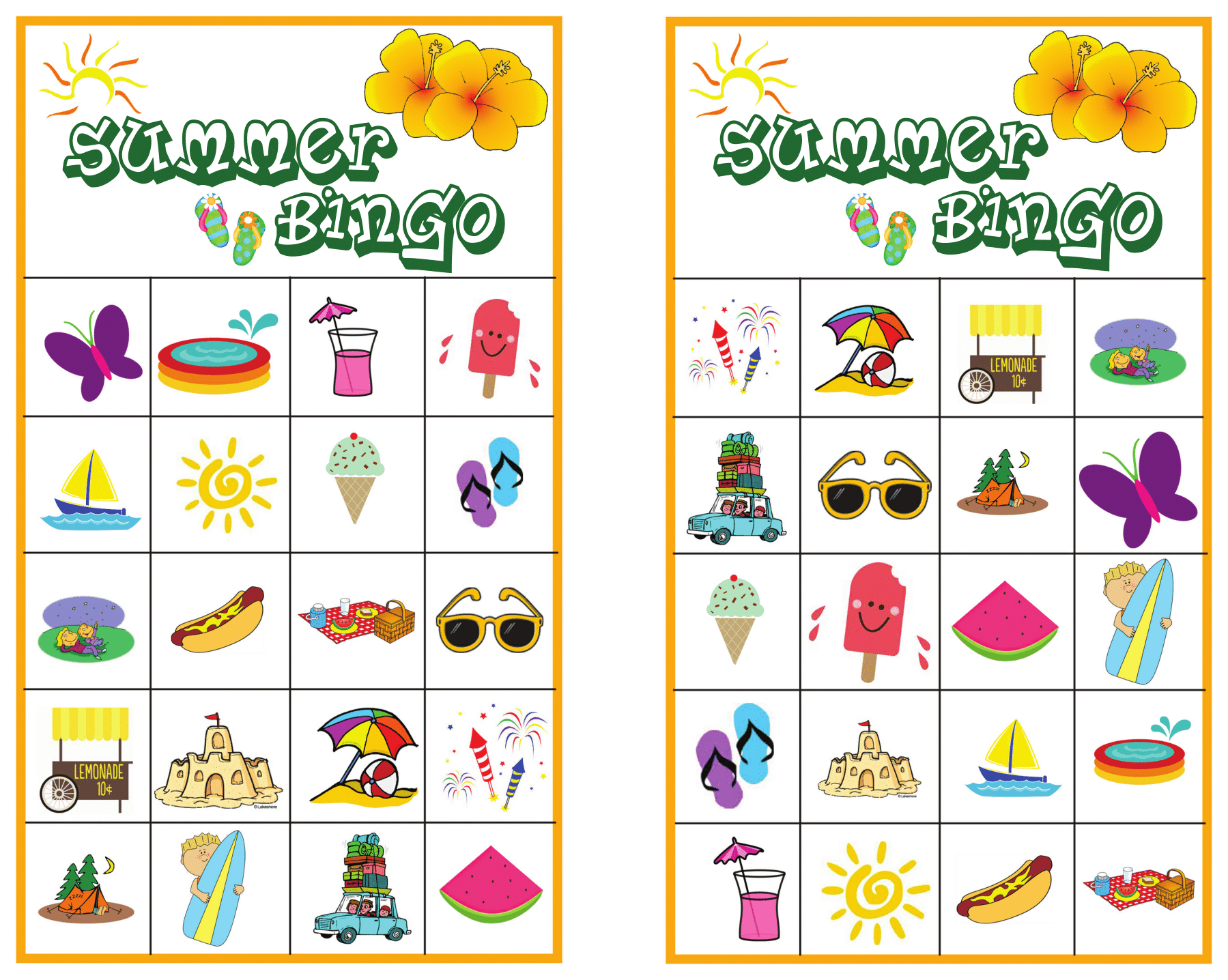 Summer Bingo Game With Free Printables - Free Printable Bingo