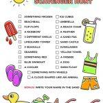 Summer Scavenger Hunt Free Printable For Kids     Free Printable Scavenger Hunt