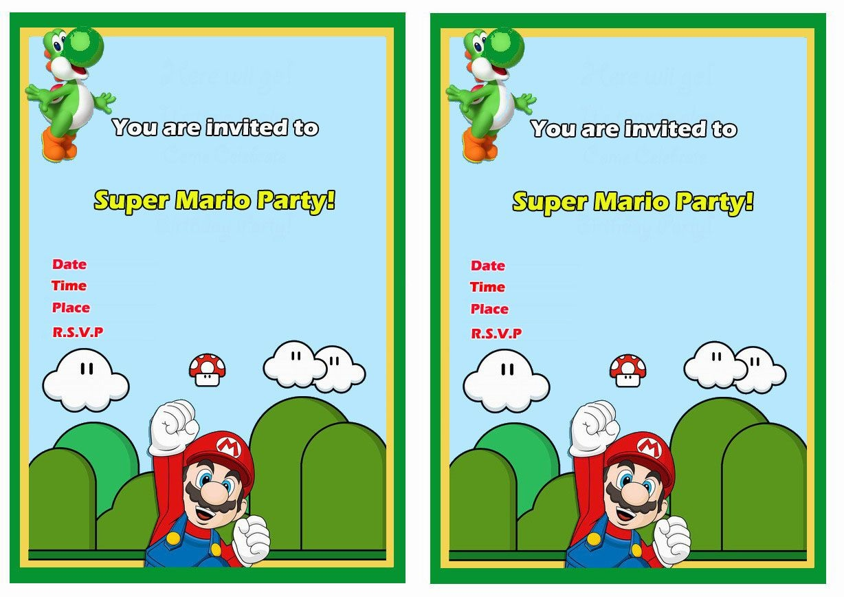 Super Mario Free Printable Birthday Invitations Click Image Below To - Free Printable Super Mario Bros Invitations