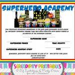 Superhero Certificate Template. Superhero Certificate Template. Free   Free Printable Superhero Certificates