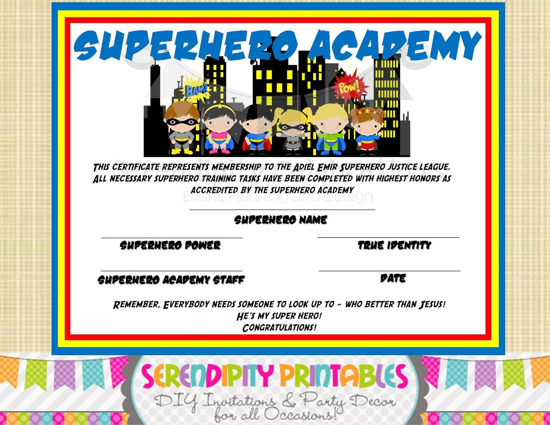 Superhero Certificate Template. Superhero Certificate Template. Free - Free Printable Superhero Certificates