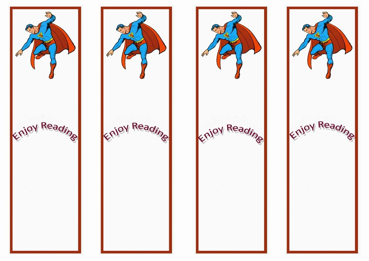 Superman Themed Bookmarks | Themed Bookmarks - Free Printables - Free Printable Sports Bookmarks