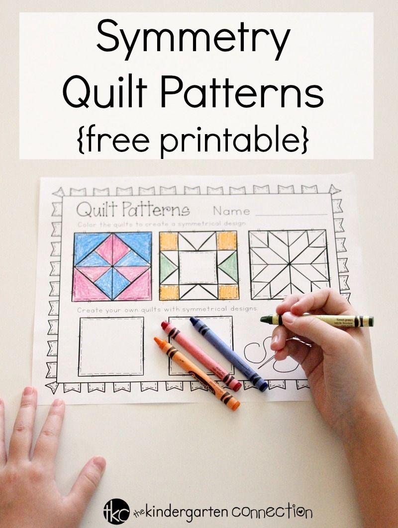 Symmetry Quilt Patterns | Free Printables | Kindergarten Math - Quilt Patterns Free Printable