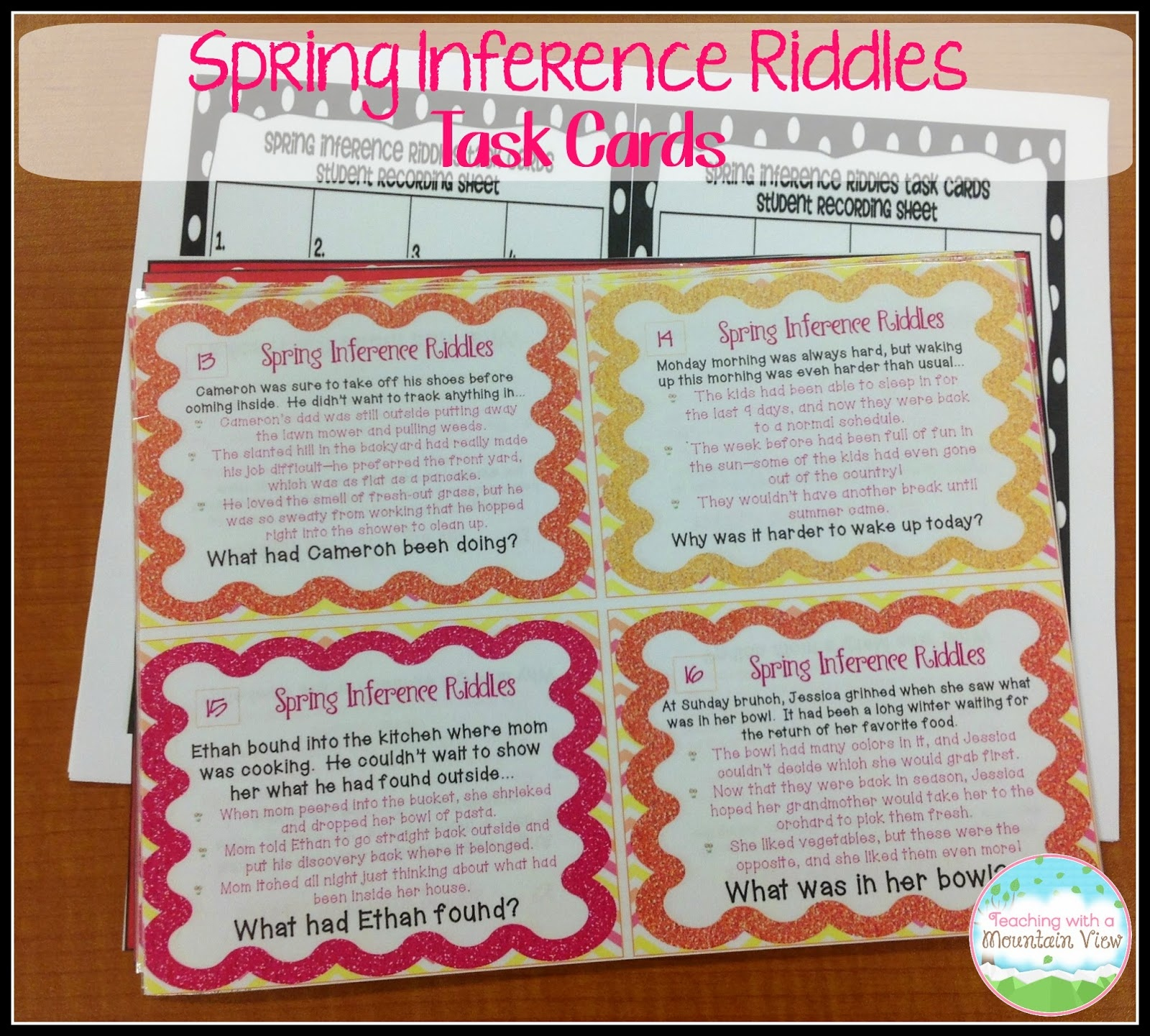 Task Card Corner - Free Printable Kindergarten Task Cards