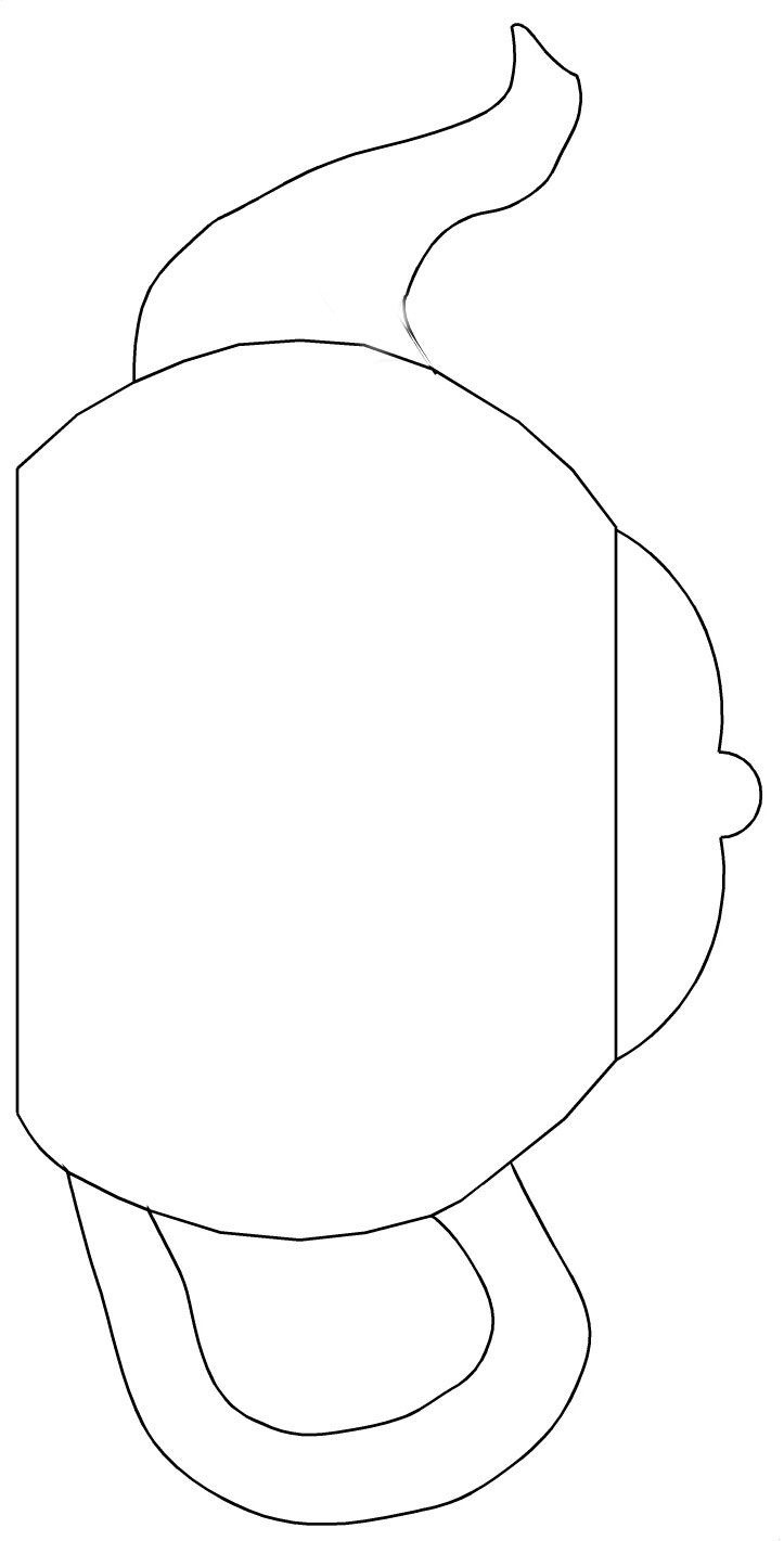 Teapot Templates Free Printable | Cut The Teapot, Handle And Spout - Free Teapot Printable