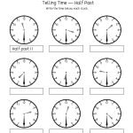 Telling Time Half Past The Hour Worksheets For 1St And 2Nd Graders   Free Printable Telling Time Worksheets For 1St Grade