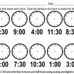 Telling Time To The Hour Worksheets Cut And Paste   Worksheets For   Free Printable Telling Time Worksheets For 1St Grade