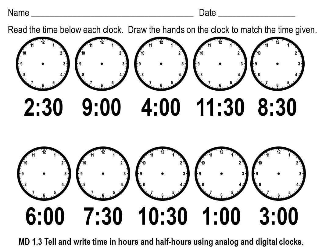 Telling Time To The Hour Worksheets Cut And Paste - Worksheets For - Free Printable Telling Time Worksheets For 1St Grade