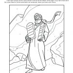 Ten Commandments Colornumber | Ten Commandments Bible Activities   Free Printable Ten Commandments Coloring Pages