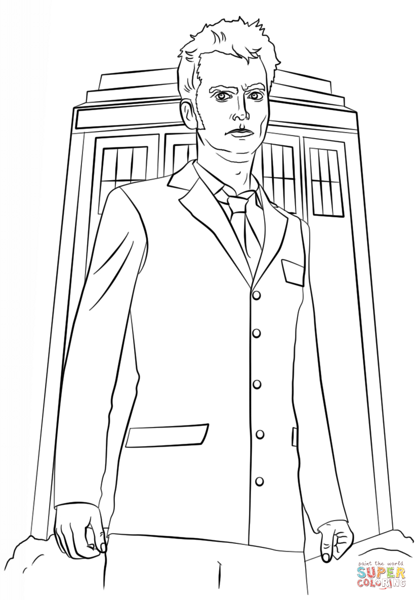 Tenth Doctor Coloring Page | Free Printable Coloring Pages - Doctor Coloring Pages Free Printable