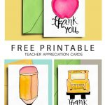 Thank You Card For Teacher And School Bus Driver With Free   Free Printable Teacher Appreciation Cards To Color