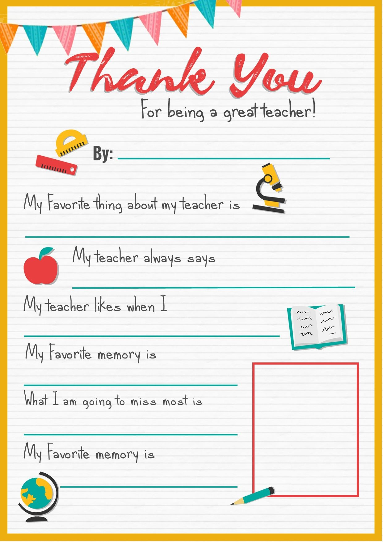 Thank You Teacher - A Free Printable | Stay At Home Mum | Back To - Free Printable Teacher Appreciation Cards
