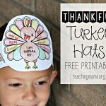 Thankful Turkey Hats   Free Printable Thanksgiving Hats