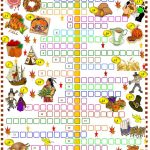 Thanksgiving: Crossword Puzzle Worksheet   Free Esl Printable   Thanksgiving Crossword Puzzles Printable Free