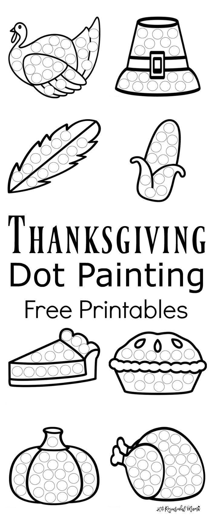 Thanksgiving Dot Painting {Free Printables} | Best Of Kids And - Thanksgiving Games Printable Free