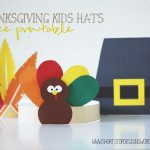 Thanksgiving Kids Hats – Free Printables – Short Stop Designs   Free Printable Thanksgiving Hats