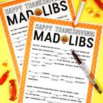 Thanksgiving Mad Libs Printable Game   Happiness Is Homemade   Mad Libs Online Printable Free