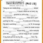 Thanksgiving Mad Libs Printable   My Sister's Suitcase   Packed With   Mad Libs Online Printable Free