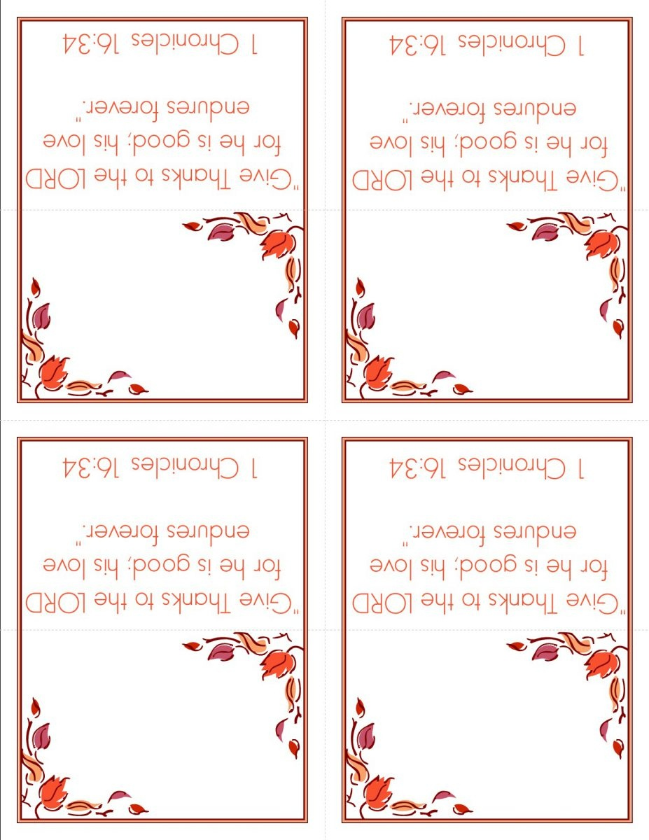 Thanksgiving Name Place Cards Templates – Happy Easter - Free Printable Place Cards Template