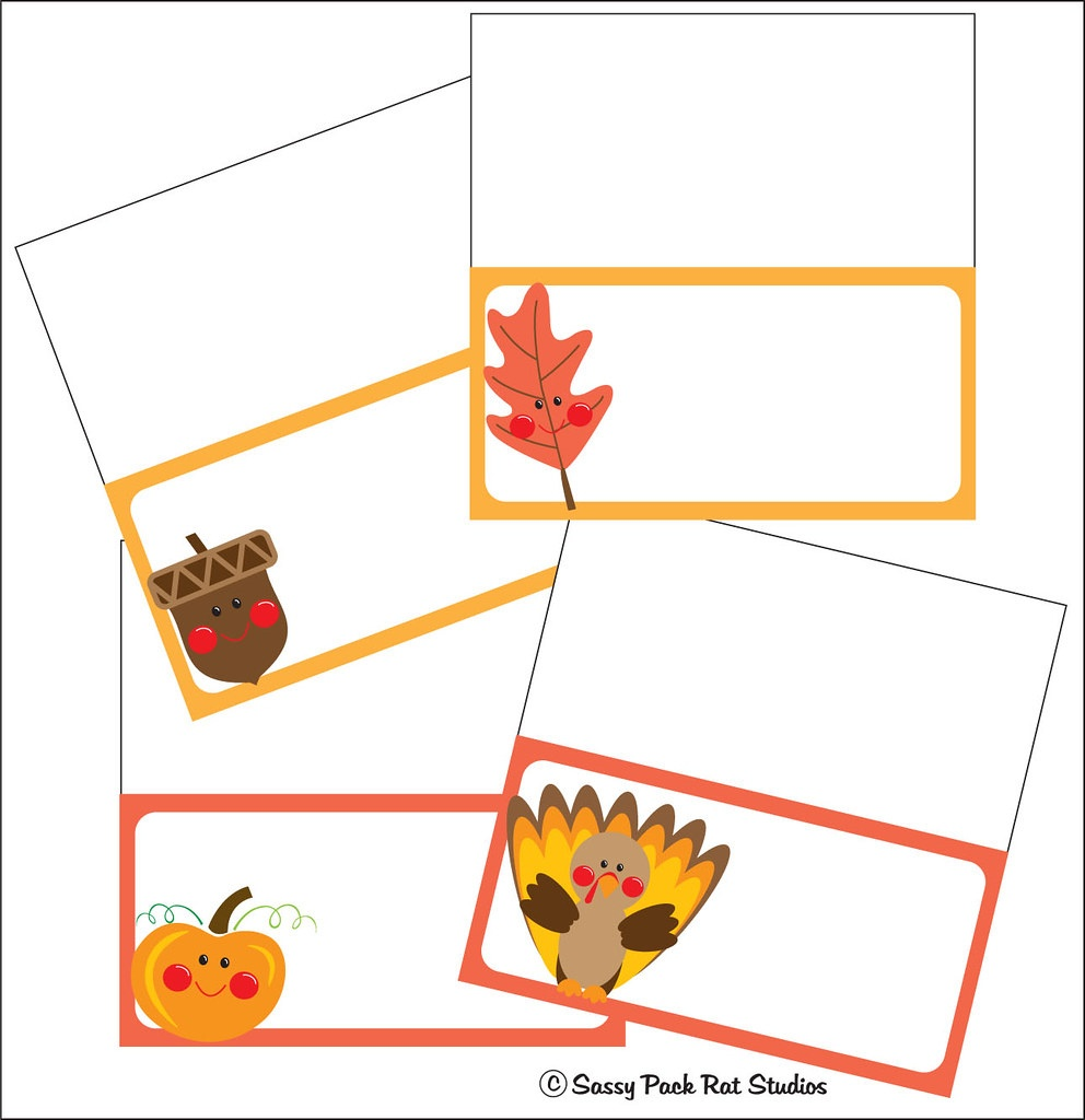 Thanksgiving Place Cards | Free Printable. Www.pdfhost/i… | Flickr - Free Printable Thanksgiving Place Cards