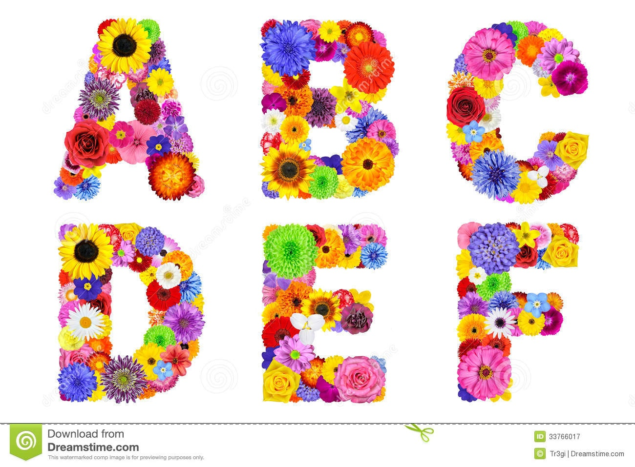 The Elegant Free Flower Letter Clipart Intended For Your Reference - Free Printable Flower Letters
