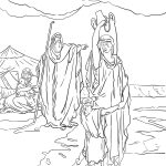 The Expulsion Of Hagar And Ishmael Coloring Page From Abraham   Free Printable Bible Characters Coloring Pages
