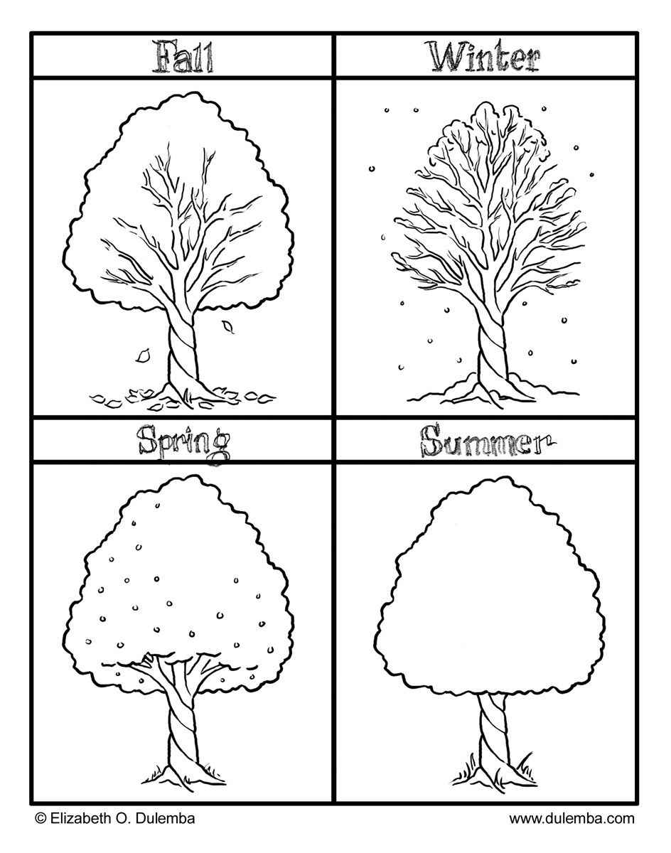 The Four Seasons Colouring Pages | Preschool | Seasons Worksheets - Free Printable Pictures Of The Four Seasons