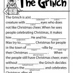 The Grinch Mad Lib | Holiday (C/g&a): Christmas Games/activities   Christmas Mad Libs Printable Free