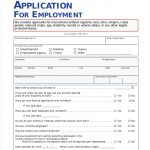 The Importance Of Employment Application Pdf   Free Job Application Form   Free Printable Job Application Form Pdf