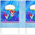 The Little Mermaid Birthday: Free Printable Boxes.   Oh My Fiesta   Free Printable Little Mermaid Birthday Banner