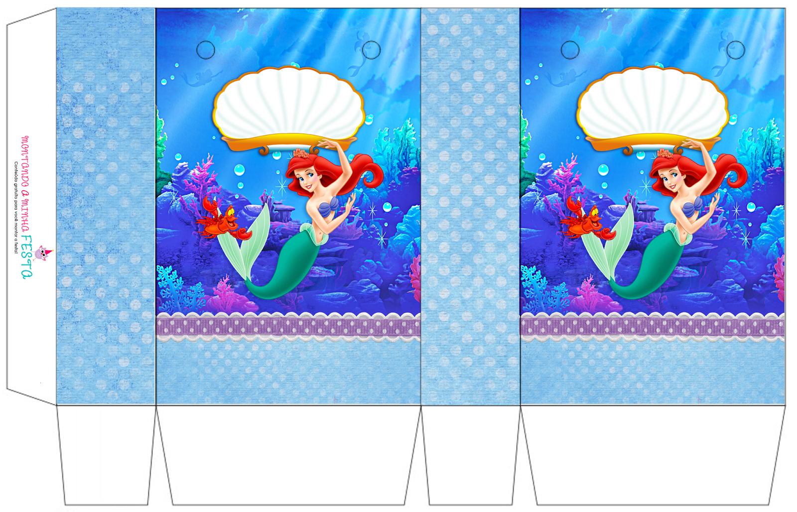 The Little Mermaid Birthday: Free Printable Boxes. - Oh My Fiesta - Free Printable Little Mermaid Birthday Banner