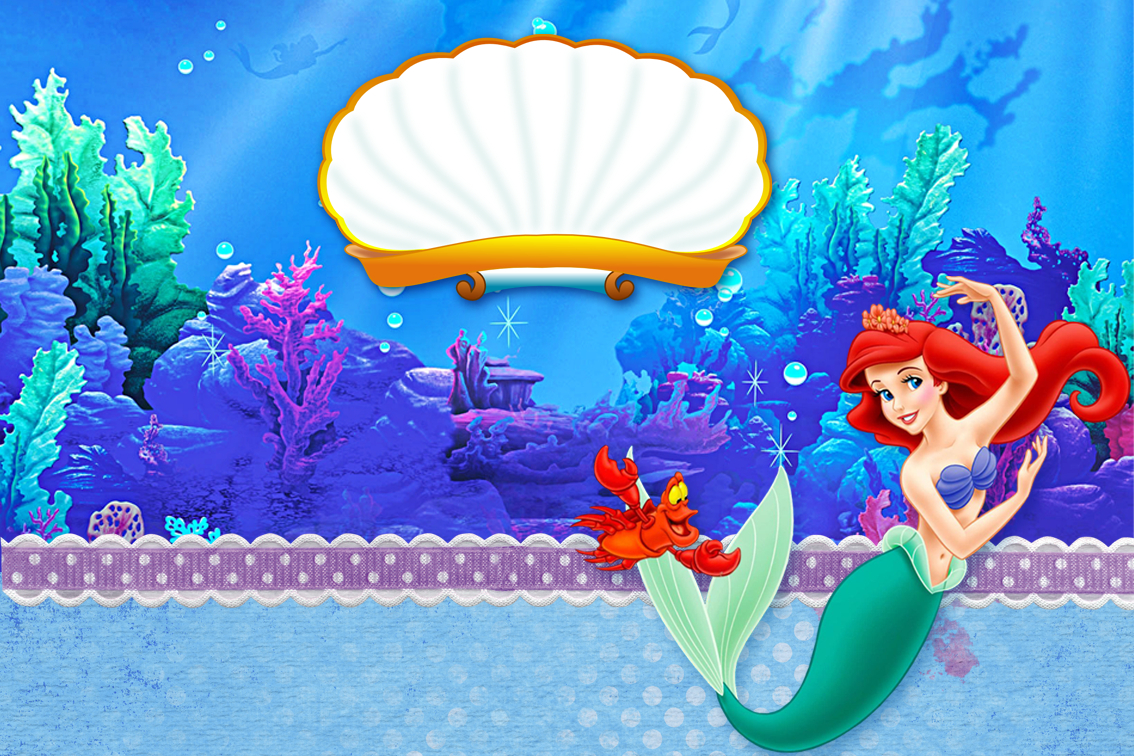 The Little Mermaid Birthday: Free Printable Invitations. - Oh My - Free Printable Little Mermaid Birthday Banner