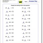 The Pre Algebra Worksheets Provide Simple Number Sentences In The   Free Printable Algebra Worksheets With Answers