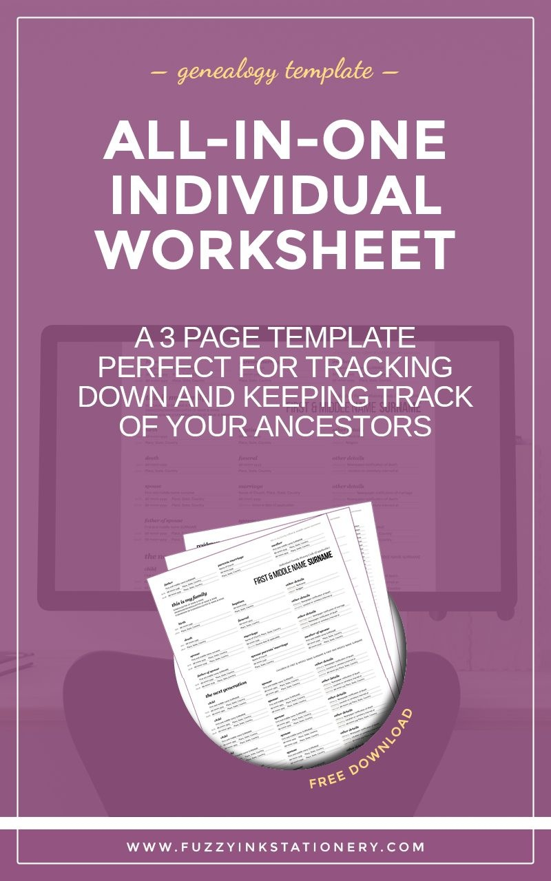 The Ultimate All-In-One Genealogy Individual Worksheet   Upbringing - Free Printable Genealogy Worksheets