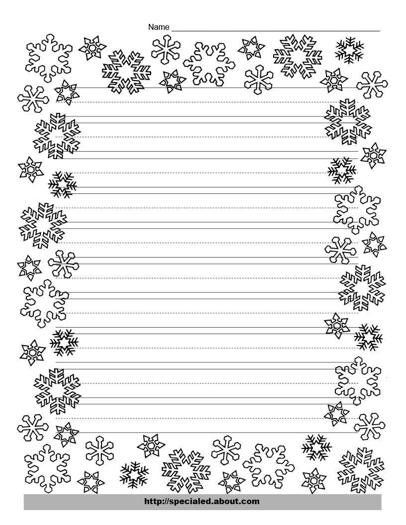 These Free Christmas Printables Are Perfect For Kids' Writing Tasks - Free Printable Writing Paper With Borders