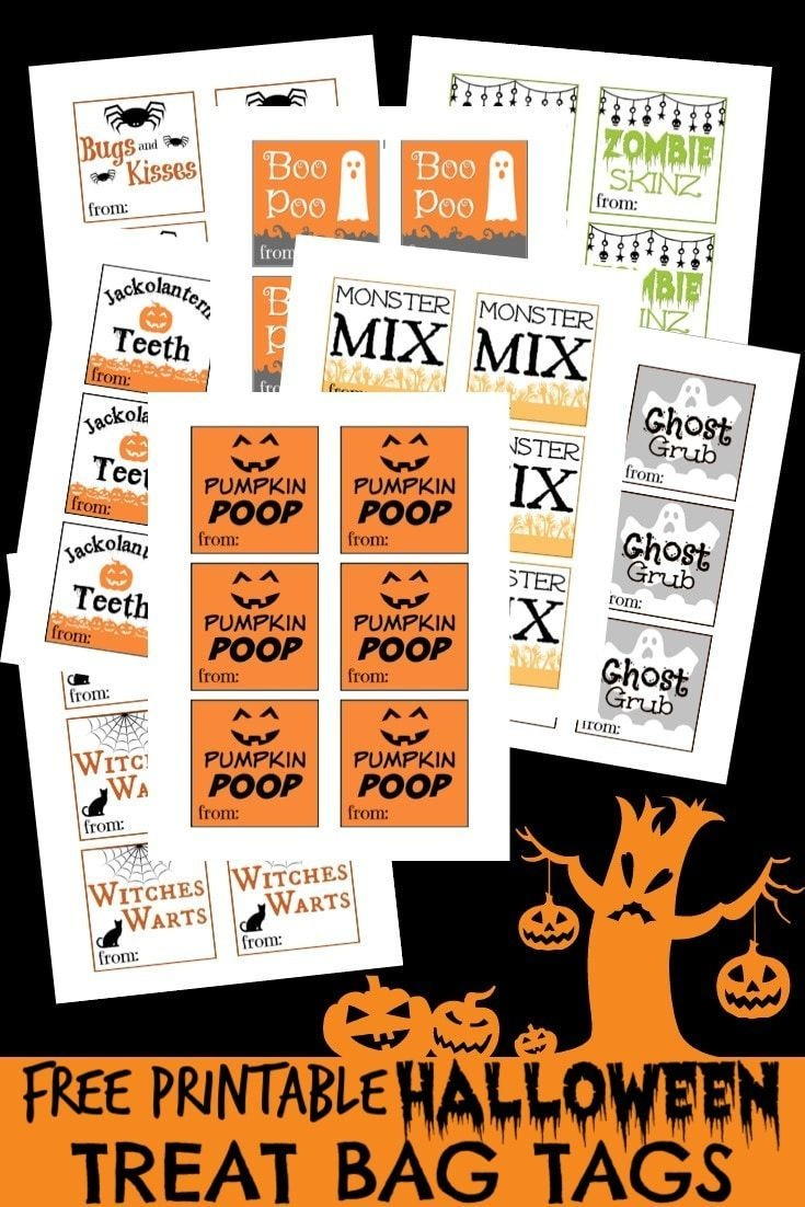 These Free Printable Halloween Treat Bag Tags Are So Cute And I Love - Free Printable Goodie Bag Tags