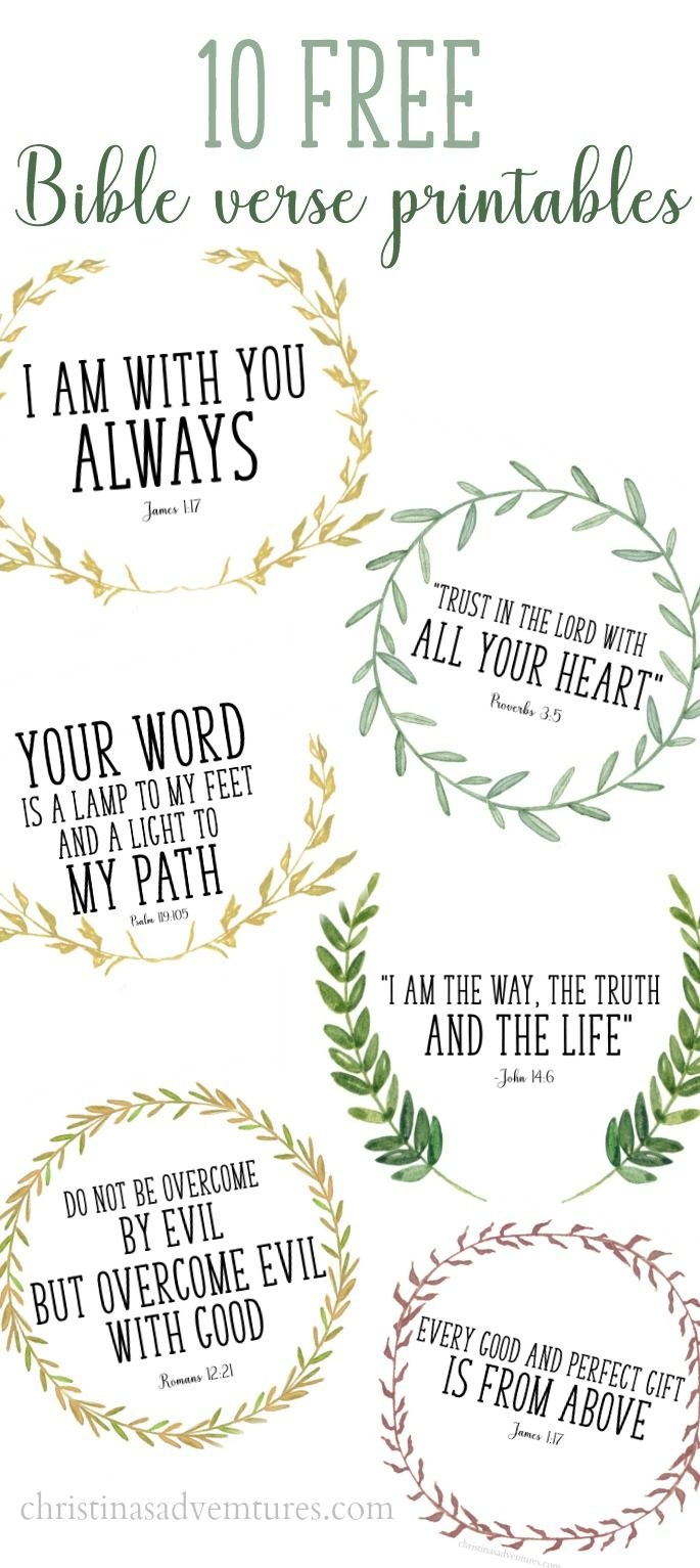These Printable Bible Verses Are Free, And Are Perfect To Help Your - Free Printable Bible Verses