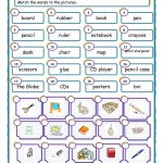 Things In The Classroom Worksheet   Free Esl Printable Worksheets   Free Printable Classroom Worksheets