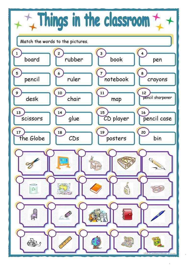Things In The Classroom Worksheet - Free Esl Printable Worksheets - Free Printable Classroom Worksheets