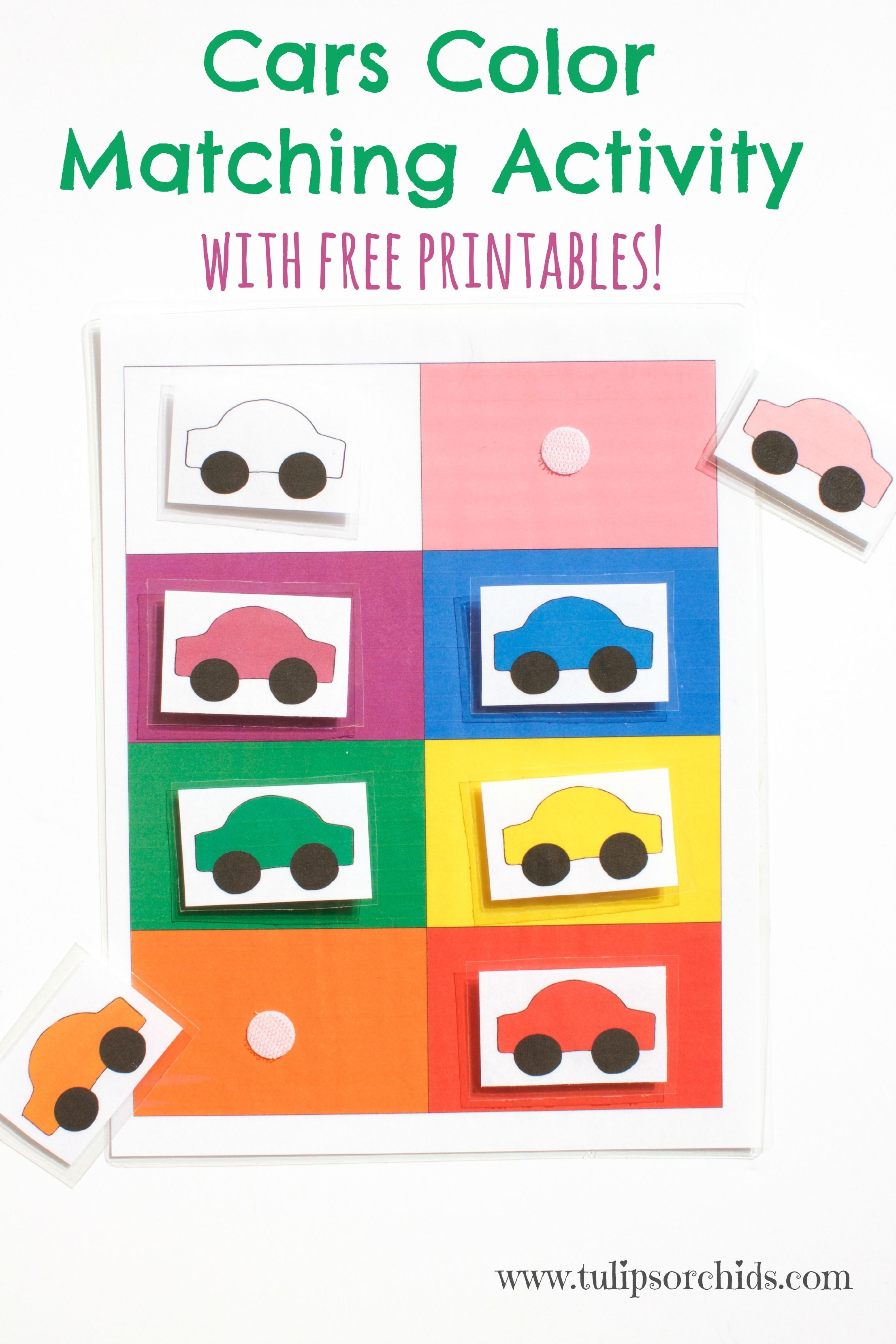 This Cars Color Matching Activity Incorporates Learning Colors As - Free Printable Toddler Matching Games